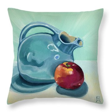 Apple And Ball Pitcher Throw Pillow