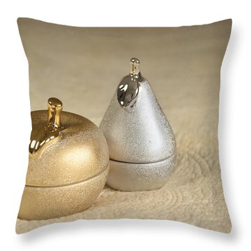 Apple And Pear Throw Pillow by Svetlana Sewell