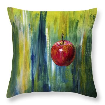 Apple Throw Pillow by Arturas Slapsys