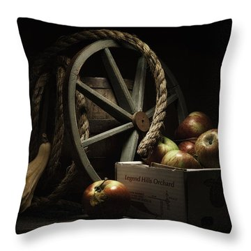 Apple Basket Still Life Throw Pillow