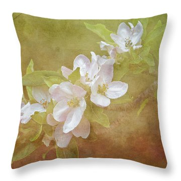 Apple Blossom Spring Throw Pillow