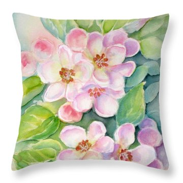 Apple Blossoms 1 Throw Pillow