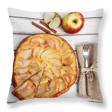 Apple Cake Throw Pillow