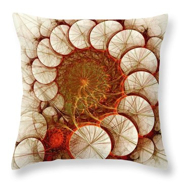 Apple Cinnamon Throw Pillow by Anastasiya Malakhova