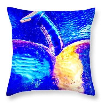 Apple Cup Throw Pillow by Omaste Witkowski