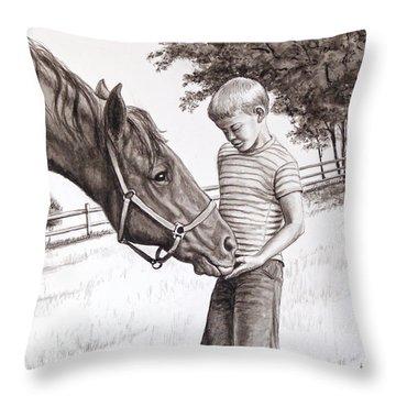 Apple Lovers Throw Pillow
