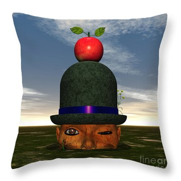 Apple On A Derby Throw Pillow