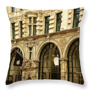Apple On Regent Street Throw Pillow