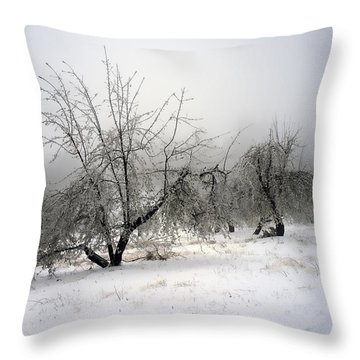 Apple Orchard Throw Pillow by Hugh Smith