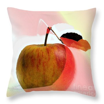 Throw Pillow featuring the photograph Apple Peel by Luc Van de Steeg