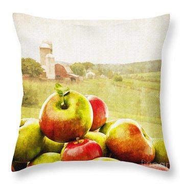 Apple Picking Time Throw Pillow