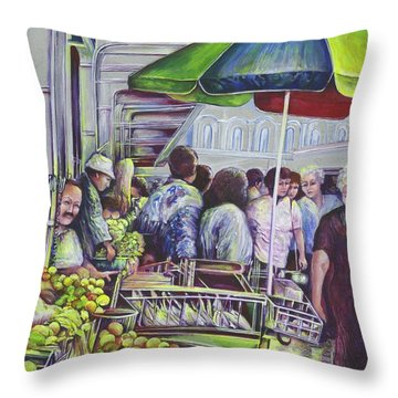 Apple Pie Requires Apples Hungary Throw Pillow by Gaye Elise Beda