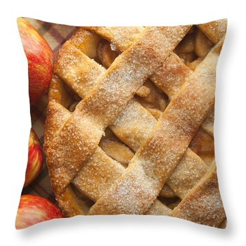 Apple Pie With Lattice Crust Throw Pillow by Diane Diederich