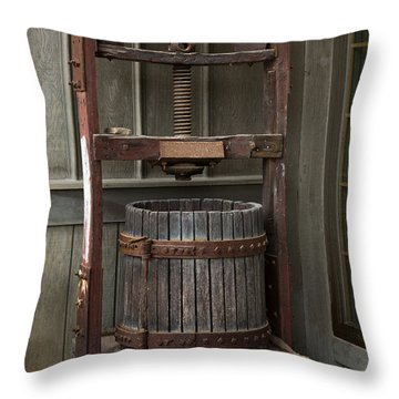 Apple Press Throw Pillow by Dale Kincaid