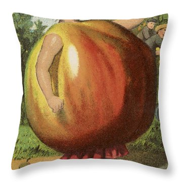 Apple Sauce Throw Pillow by Aged Pixel