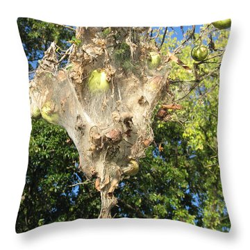 Apple Trap Throw Pillow