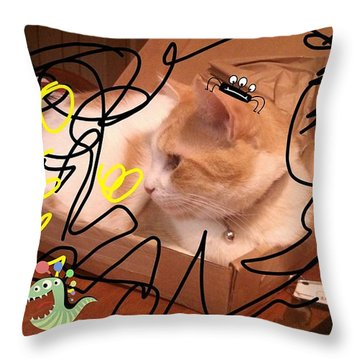 Applejack Lost Among The Monsters Throw Pillow