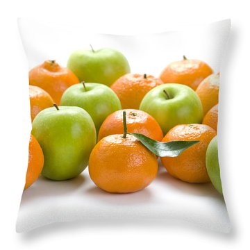 Throw Pillow featuring the photograph Apples And Oranges by Lee Avison