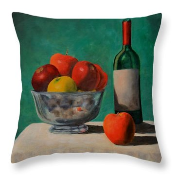 Apples And Wine Throw Pillow