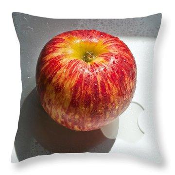 Apples Throw Pillow by Daniel Furon
