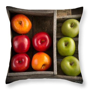 Apples Throw Pillow by Edward Fielding