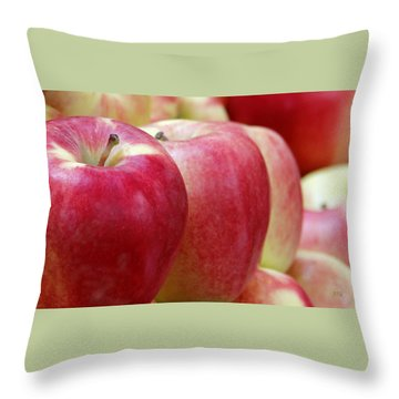 Apples For Sale Throw Pillow by Ben and Raisa Gertsberg