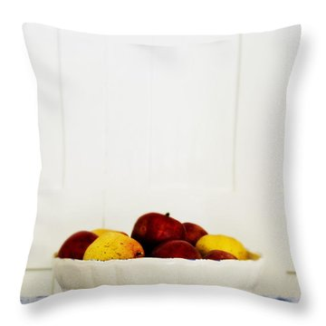 Apples Throw Pillow by Margie Hurwich