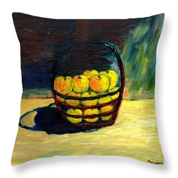 Apples Throw Pillow by Mauro Beniamino Muggianu