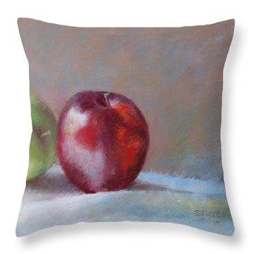 Apples Throw Pillow by Nancy Stutes