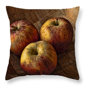 Apples Throw Pillow by Steve Purnell