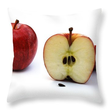 Apples Still Life Throw Pillow