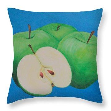 Apples Throw Pillow by Sven Fischer