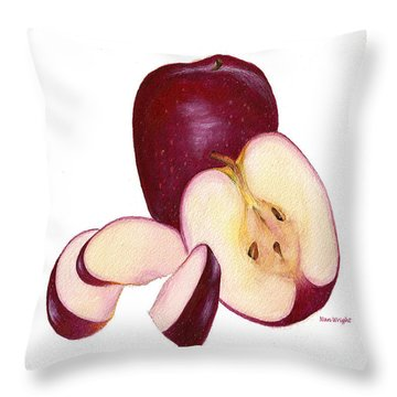 Apples To Apples Throw Pillow by Nan Wright