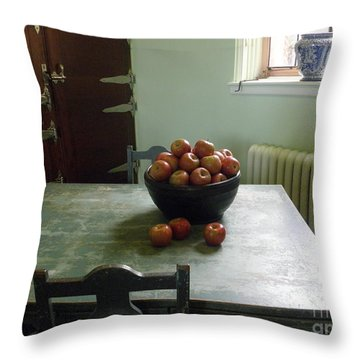 Apples Throw Pillow by Valerie Reeves