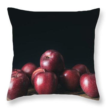 Apples Throw Pillow by Viktor Pravdica