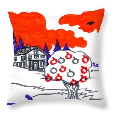 Appletree Psyche-scape Throw Pillow