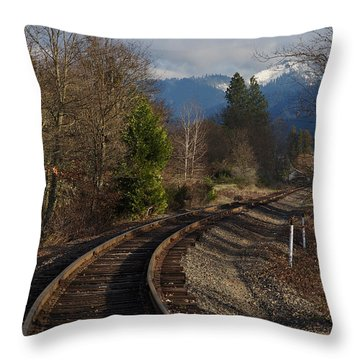 Approaching Grants Pass 1 Throw Pillow by Mick Anderson