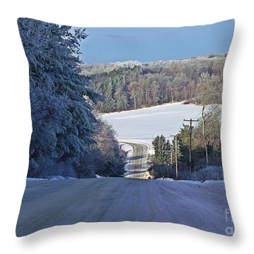 Throw Pillow featuring the photograph Approaching Greene's Corners by Christian Mattison
