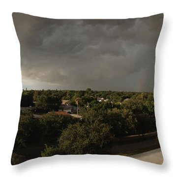 Approaching Storm Throw Pillow by Beth Williams