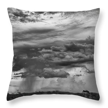 Approaching Storm Black And White Throw Pillow by Douglas Barnard