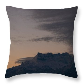 Throw Pillow featuring the photograph Approaching Storm by Colleen Williams