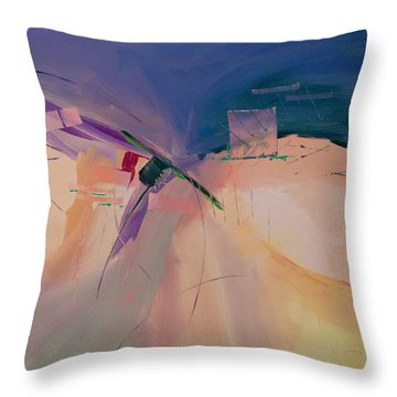 Approaching Storm Throw Pillow by Paulette B Wright