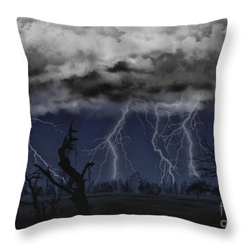 Approaching Storm Throw Pillow
