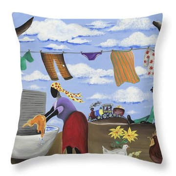 Approaching The Finish Line Throw Pillow by Patricia Sabree