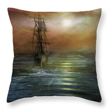 Approaching The New World Throw Pillow