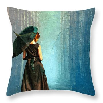 Apres La Pluie Throw Pillow