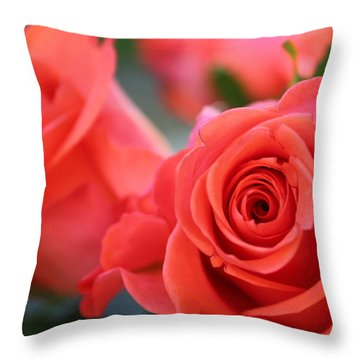 Apricot Beauty Throw Pillow by Judy Palkimas