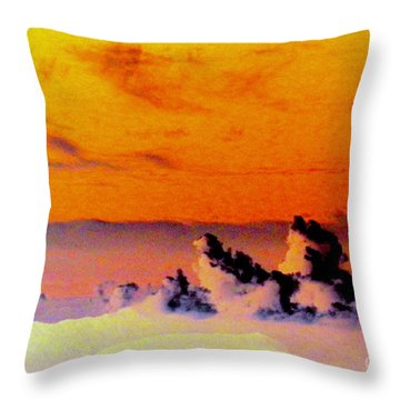 Apricot Sky Throw Pillow