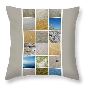 April Beach Throw Pillow by Michelle Calkins
