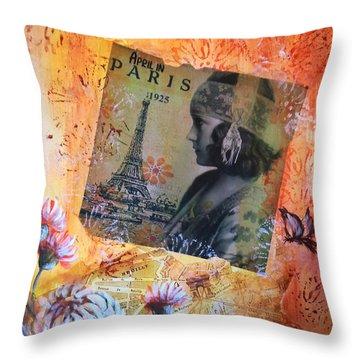 April In Paris 1925 Throw Pillow
